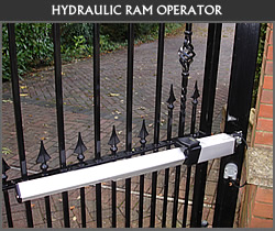 Ram arm style gate automation from Ironwood Gates Ltd