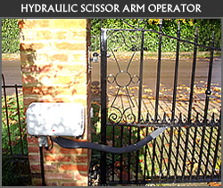 Scissor arm operator gate automation from Ironwood Gates