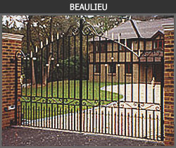 Beaulieu wrought iron gate design from Ironwood Gates