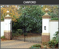 Canford wrought iron gate design from Ironwood Gates