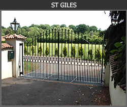 St Giles wrought iron gate design from Ironwood Gates