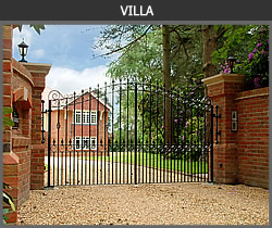 Villa wrought iron gate design from Ironwood Gates