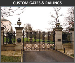 Custom wrought iron gates and railings from Ironwood Limited
